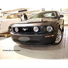 Black 2006 Mustang Amazon Com Lebra 2 Piece Front End Cover Black Car Mask Bra