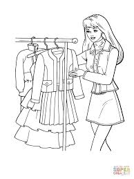 what dress to choose coloring page free printable coloring pages