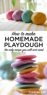 How To Make Your Home Smell Good by The Best Playdough Recipe Tinkerlab