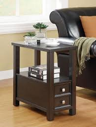 small table with shelves brilliant end tables storage denniswoo narrow end table with drawer