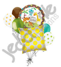 welcome home balloon bouquet 7 pc welcome baby monkey jungle balloon bouquet welcome home baby