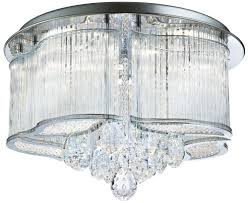 chrome flush mount light led polished chrome flush mount crystal ceiling light glass rods