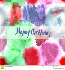 happy birthday card abstract watercolor art hand paint pattern