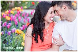 thanksgiving point tulip festival engagement session