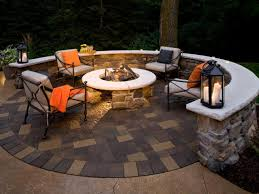 Backyard Paver Patio Ideas Designing A Patio Around A Fire Pit Diy