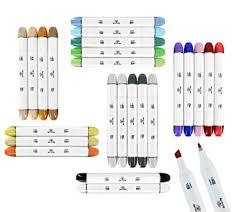 amazon com 24 professional sketch markers set for drawing