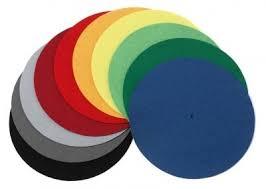 platter mat ject felt turntable platter mat coloured