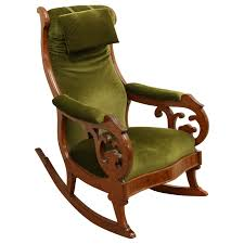 Rocking Chair George Jones Swedish Mahogany Framed Rocking Chair Decorative Collective