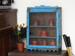 Blue Vintage Bathroom Cabinet  Sold Scaramanga - Bathroom cabinet vintage 2