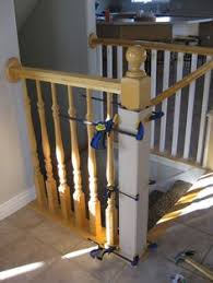 Restaining Banister Stair Banister Renovation Using Existing Newel Post And Handrail