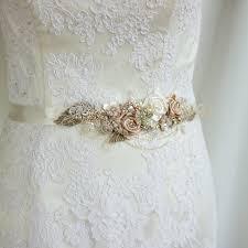 bridal belt sash rose gold belt sash rustic sashes belts for