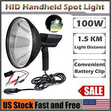 hand held spot light amazon amazon com 9 inch 100w hid handheld spotlights offroad hunting