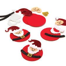 santa christmas craft glitter foam santa u0027s 6 pack christmas