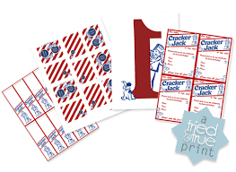 Personalized Cracker Jack Boxes Cracker Jack Birthday Party Free Printables Cracker Jacks Free