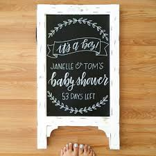 baby shower sign baby shower chalkboard baby shower sign by sugarandchicshop