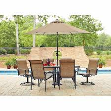 Agio Patio Dining Set - 7 piece outdoor dining set with swivel chairs home chair decoration