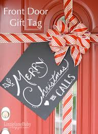 Present Decoration Gift Wrapped Front Door With Tag Liz On Call