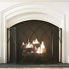 minuteman international traditional spark guard fireplace screen