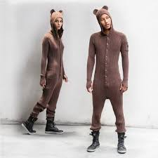 brown festival pj s for adults one jumpsuit