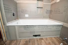 Plumbing For Basement Bathroom by Remodelaholic Basement Bathroom Drywall And Cement Board