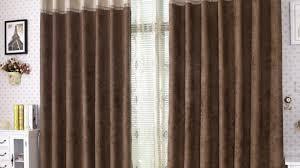 Brown Blackout Curtains Cotton Luster Velvet Curtain Stone West Elm With Blackout Velvet