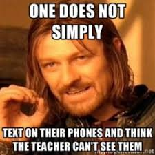 Meme Cell Phone - a week long challenge leave your phone in your pocket during class