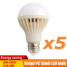 aliexpress buy 5pc lot e27 led l 220v 110v ac beige
