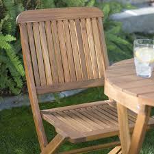 Folding Patio Furniture Set - coral coast lindos 3 piece folding patio bistro set hayneedle
