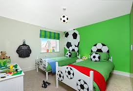 Sports Themed Bedrooms Football Theme With Football Wallpaper And - Football bedroom ideas