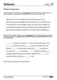 Helping Verb Worksheets En32tens E3 W Writing In The Past Tense 752x1065 Jpg