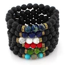 bracelet stone beads images Imperial beads lava stone beaded bracelet play yoga jpg