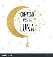 Wedding Wishes Spanish You Moon Cute Positive Lover Quote Stock Vector 685950805