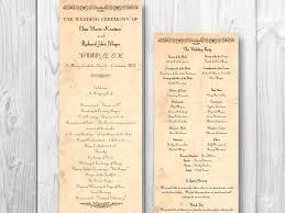 Order Wedding Ceremony Program Wedding Program Templatesregularmidwesterners Resume Templates