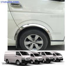 08 u2013 16 stainless 4dr fender flares wheel arch for toyota hiace