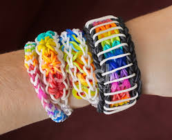 bracelet looms bands images Loom band bracelets stock photos jpg