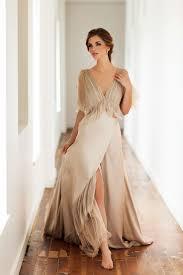 beige wedding dress bela flor beige chagne ivory couture