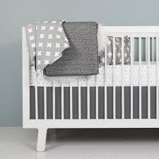 Grey And White Crib Bedding Black And White Baby Bedding Monochrome Nursery Olli Lime Modern