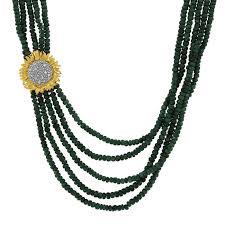 diamonds necklace photos images Vincent five mutli necklace w emeralds diamonds in sterling jpg