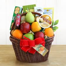 fruit gift baskets organic wine fruit gourmet classic gift box hayneedle