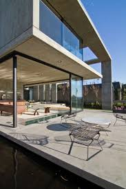 the sheer beauty of concrete walls ample seating space in the patio