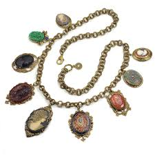 cameo antique necklace images Antique elements and cameo charm necklace by sweet romance jpg