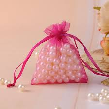 tulle bags hot new 100pcs lot 7x9cm pink tulle gift bags christmas