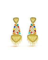 danglers earings shop danglers earrings in multicolour with work from simaaya