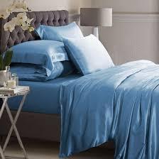 dark blue silk bed linen from 100 mulberry silk