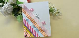 how to make an easy scrapbook tape thank you card for mother u0027s day