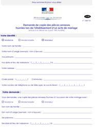 demande d acte de mariage en ligne nantes mariage certificat de mariage mairie
