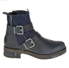 womens boots navy footwear kearny motorcycle boots in navy denim s boots p309002