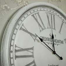 large wall clock large round grey wall clock melody maison