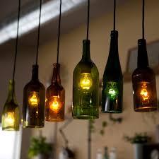 Wine Bottle Chandeliers Mediterranean Creative Bottle Pendant Cafe Bar Coffee Shop Bar
