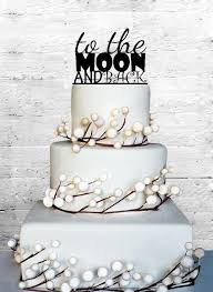 personalized cake topper to the moon and back wedding cake topper monogram cake topper